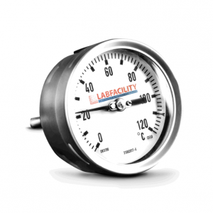 """Bi-Metal Thermometer Temperature Gauges - Back Entry Style with 1/2"""" BSP Pocket"""