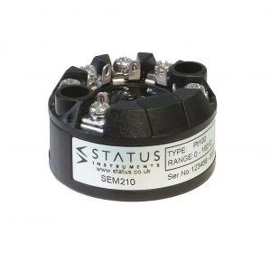 Status SEM210 PC Programmable universal input In-Head Temperature Transmitter