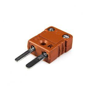 High Temperature Miniature Thermocouple Connector MTC-K-M-HTP Plug Type K
