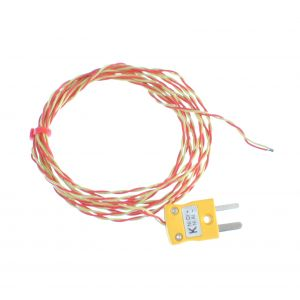 PFA insulated ANSI Exposed Junction Thermocouple with Miniature Plug - Types K,T