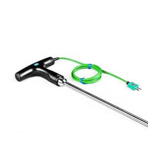 Handheld Needle Probe T-shaped - Asphalt or Food Processing 1M / 1.4M - Type K