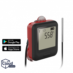 Lascar EL-WiFi-TPX+ WiFi-Connected High-Accuracy Temperature Data Logger with Alarm Warning Light and Sounder