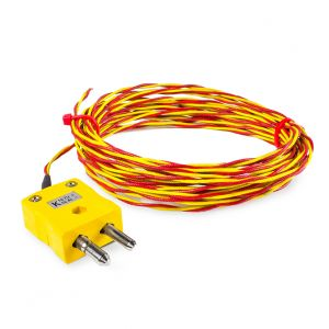 ANSI High Temperature Glassfibre Twin Twisted Exposed Welded Tip Thermocouples with Standard Plug Termination