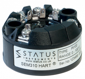 Status SEM310 MKII - Universal, Dual Input, High Performance HART Temperature Transmitter