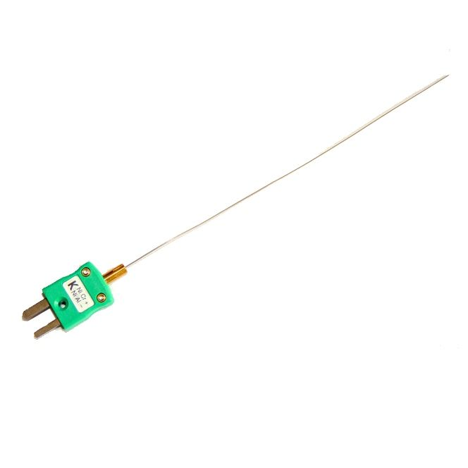 Fast Response (0.5mm diameter) Mineral Insulated Thermocouple with Miniature IEC Plug - Type K