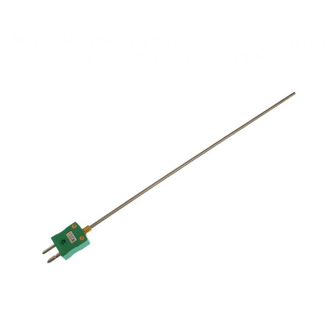 Mineral Insulated Thermocouple with Standard Plug IEC - Types K,J,T,N