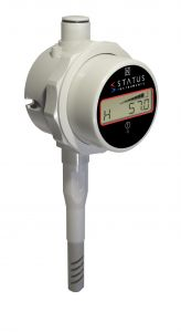 Status DM650HM/C/B - Duct Mount (250mm) with 266mm Stem - Humidity & Temperature Gauge With Data Logging, Alarm & Messaging