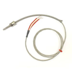 Adjustable Bayonet Pt100, Glassfibre Stainless Steel Overbraided Cable - Type RTD / PRT