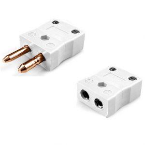 Standard Thermocouple Connector Plug & Socket IS-CU-M+F Type CU IEC