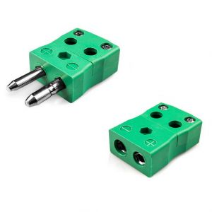 Standard Quick Wire Thermocouple Connector Plug & Socket IS-K-MQ+FQ Type K IEC