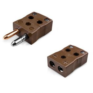 Standard Quick Wire Thermocouple Connector Plug & Socket IS-T-MQ+FQ Type T IEC