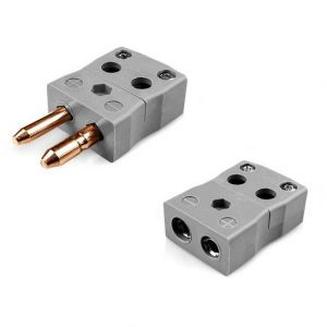 Standard Quick Wire Thermocouple Connector Plug & Socket IS-B-MQ+FQ Type B IEC