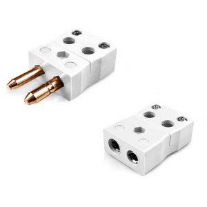 Standard Quick Wire Thermocouple Connector Plug & Socket IS-CU-MQ+FQ Type CU IEC