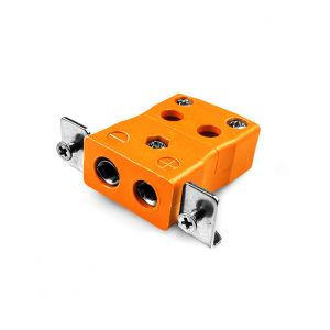 Standard Quick Wire Panel Mount Thermocouple Connector with Stainless Steel Bracket IS-R/S-SSPFQ Type R/S IEC