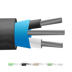 Type J PVC Insulated Mylar Screened Thermocouple Cable / Wire (IEC)