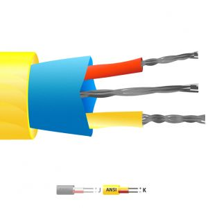 Type K PVC Insulated Mylar Screened Thermocouple Cable / Wire (ANSI)