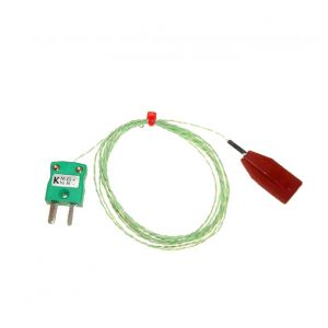 Silicone Patch Thermocouple, PFA with Miniature Plug - Type K