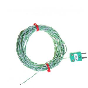 PFA insulated IEC Exposed Junction Thermocouple - Types K,J,T
