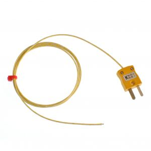 Glassfibre insulated ANSI Exposed Junction Thermocouple with Miniature Plug - Types K
