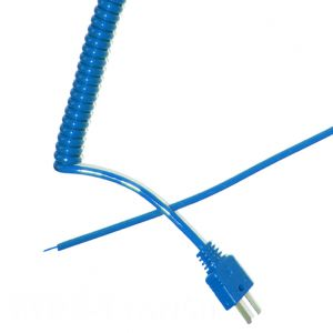 Type T Retractable Curly Thermocouple Lead (ANSI)