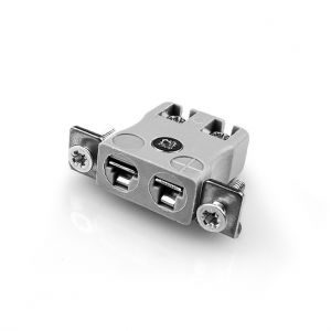 Miniature Quick Wire Panel Mount Thermocouple Connector Stainless Steel Bracket AM-B-SSPFQ Type B ANSI