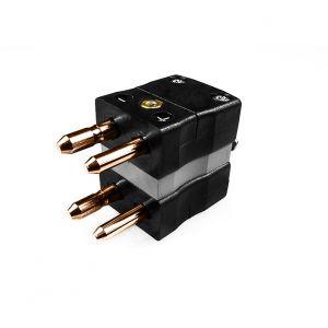 Standard Thermocouple Connector Duplex Plug AS-B-MD Type B ANSI