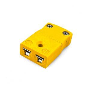 Miniature Thermocouple Connector In-Line Socket JM-J-FS Type J JIS