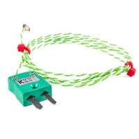 Fine Wire Disc Thermocouple, PFA with Miniature Plug - Type K,J
