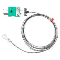 Washer Thermocouple, Glassfibre stainless steel overbraid - Type K,J