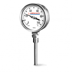 "Bi-Metal Thermometer Temperature Gauges - Bottom Entry Style with 1/2"" BSP Pocket"