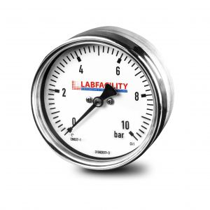 Low Pressure Industrial Capsule Pressure Gauge (100mm Ø) with Glycerine Filled vacuum option