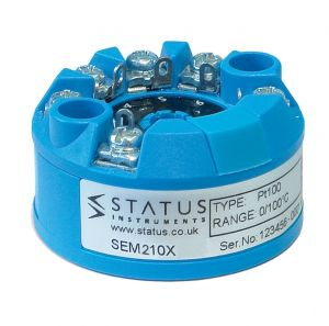 Status SEM210X PC Programmable ATEX approved universal input Temperature Transmitter