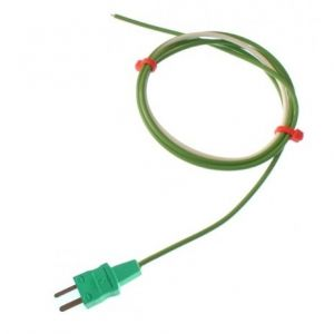 PTFE Single Shot IEC Exposed Junction Thermocouple with Moulded-on Miniature Plug - Type K