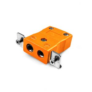 Standard Panel Mount Thermocouple Connector with Stainless Steel Bracket IS-R/S-SSPF Type R/S IEC
