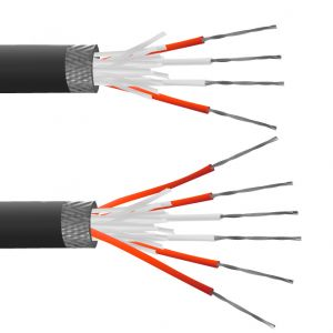 4 Core PFA Insulated, Tin Plated Copper Screen, PRT Sensor Cable / Wire