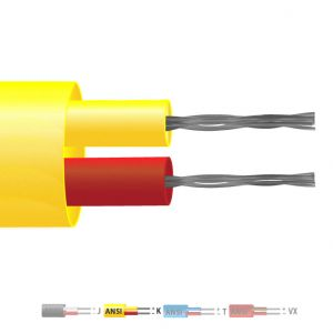 Type K PVC Insulated Flat Pair Thermocouple Cable / Wire (ANSI)