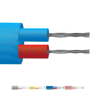 Type T PVC Insulated Flat Pair Thermocouple Cable / Wire (ANSI)