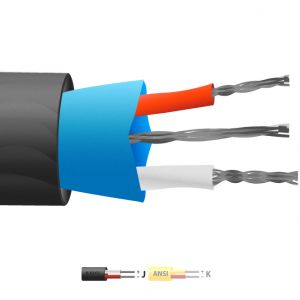Type J PVC Insulated Mylar Screened Thermocouple Cable / Wire (ANSI)