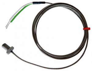 Bolt Thermocouple, Glassfibre Stainless Steel Over Braided Cable -  Type K, J