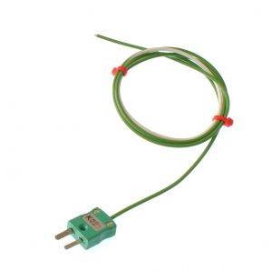 PTFE Single Shot IEC Exposed Junction Thermocouple with Miniature Plug - Type K