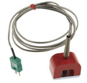 9kg Pull Horseshoe Magnet Thermocouple, SSOB PFA Insulated with Miniature Plug - Type K