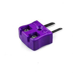 Miniature Quick Wire Thermocouple Connector Plug AM-E-MQ Type E ANSI