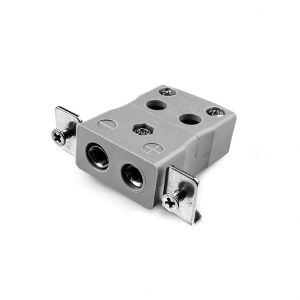 Standard Quick Wire Panel Mount Thermocouple Connector with Stainless Steel Bracket JS-B-SSPFQ Type B JIS