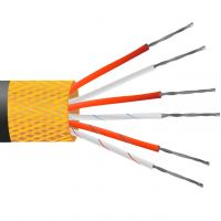 4 Core PVC Insulated, Tin Plated Copper Screen, PRT Sensor Cable / Wire