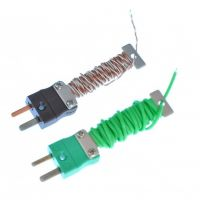 PFA Cable Tidy IEC Exposed Junction Thermocouple with Fitted Mini Plug - Types K,T