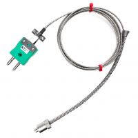 Adjustable Bayonet Thermocouple, Glassfibre Stainless Steel Overbraided Cable - Type K,J