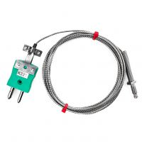 Nozzle Thermocouple, Glassfibre stainless steel overbraid - Type K,J