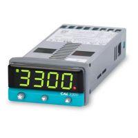CAL Single Loop Temperature Controller 3300 - 2x Relay O/Ps, 100-240VAC
