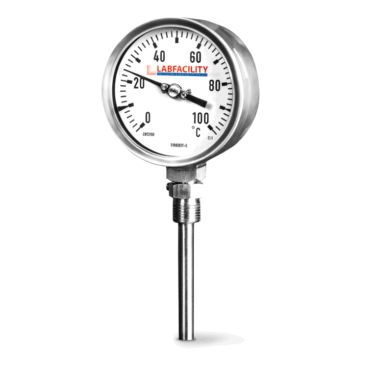 Bi-Metal Thermometer Temperature Gauges - Bottom Entry Style with 1/2