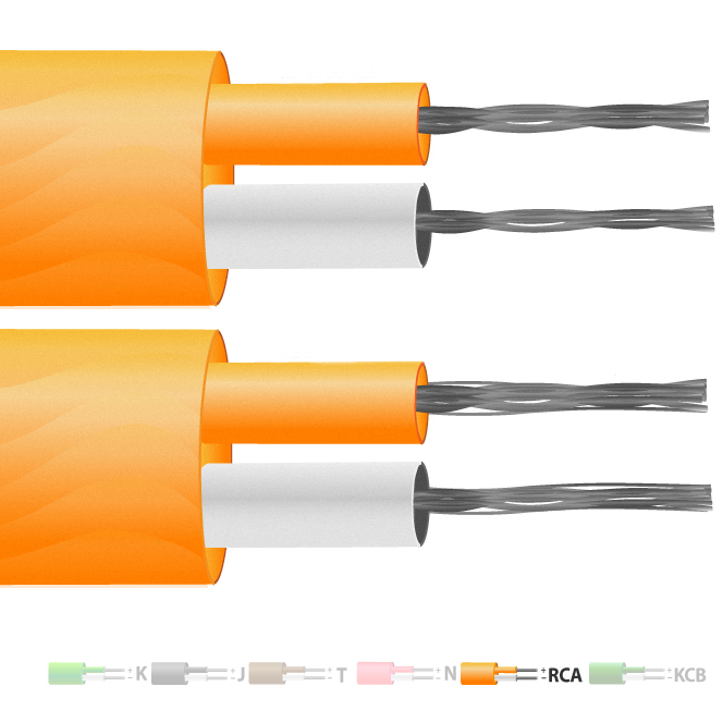Thermocouple Cable / Wire (IEC) Type U (RCA) PVC Insulated Flat Pair